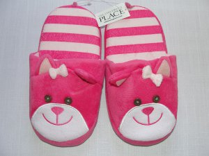 THE CHILDREN'S PLACE Girl's Size 3-4 Youth Pink Scottie Dog Slippers, NEW