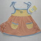 LITTLE ME Girl&#39;s 3 Months Striped Summer Sundress, Sun Dress Set, NEW