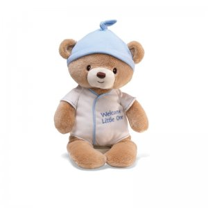 "GUND WELCOME LITTLE ONE Plush 12"" Bear, Blue, NEW"