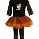 BONNIE JEAN Girl's Size 4 Tutu GHOST HALLOWEEN Dress Set, NEW