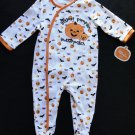FIRST MOMENTS 9 Months Halloween Pumpkin Patch Romper, Coverall, NEW