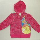 DISNEY PRINCESS Girl's Size 2/3 Pink Hooded Jacket, NEW