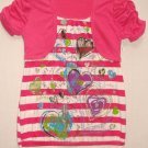 TEMPTED Girl's Size Large Pink Heart Shirt, NEW