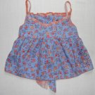 THE CHILDREN'S PLACE Girl's Size 4 Blue Orange Floral Summer Top