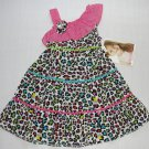 YOUNGLAND Girl&#39;s Size 4T Animal Cheetah Print Sundress, NEW