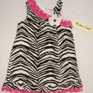 RARE, TOO! Girl's Size 3T ZEBRA Animal Print Sundress, NEW