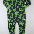 CARTER'S Boy's Size 4T Blue ALLIGATOR GATOR Rock Band Pajama Sleeper, NEW
