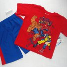 MARVEL HEROES Boy's Size 5 Shorts, T-Shirt Outfit, Set, NEW