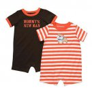 CARTER'S Boy's 3 Months 'Mommy's New Man' Romper Set, NEW