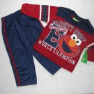 SESAME STREET Boy's Size 4T ELMO Varsity Sports Pants Set, NEW