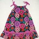 IZZY BELLA Boutique Girl's Size 6 Black Floral SunDress, Dress, NEW