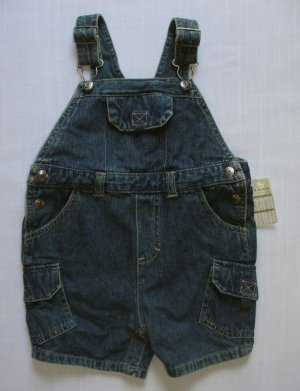 ARIZONA JEAN COMPANY Boy's 18 Months Denim Shortalls, NEW