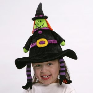 GUND CREEP-ELLA HALLOWEEN TALKING WITCH HAT, TOY, NEW