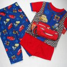 DISNEY PIXAR CARS LIGHTNING MCQUEEN Boy's Size 3T 3-Piece Pajama Set, NEW