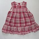 THE CHILDREN'S PLACE Girl's 12 Month Pink, Red Plaid Dress Set, NEW