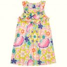 CARTER&#39;S Girl&#39;s Size 4 Multi-Color Tiered Sleeveless Dress, Sundress, NEW