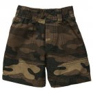 CARTER'S Boy's Size 5 Brown Camo Camoflauge Pull-On Style Shorts, NEW