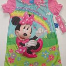 DISNEY Girl's Size 3T MINNIE MOUSE Rainbow Nightgown and Headband Set, NEW