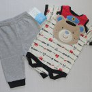BON BEBE Boy's 0-3 Months 3-Piece MOMMY'S LITTLE HERO Pants Outfit, Set, NEW