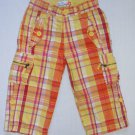 THE CHILDREN'S PLACE Girl's Size 5 Cropped, Capri Plaid Orange Pants
