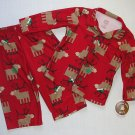 CHILD OF MINE CARTER'S 18 Months Red Flannel Reindeer Coat Pajama Set, NEW