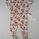 CARTER'S Girl's 24 Months Pink Floral Monkey Footed Pajama Sleeper, NEW