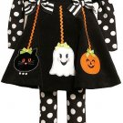 BONNIE JEAN Girl's 12 Months GHOST, PUMPKIN HALLOWEEN DRESS Set, NEW