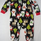 CARTER'S Size 2T Microfleece Fleece Pajama Sleeper, Christmas, Santa, NEW