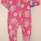 LALALOOPSY Girl's Size 3T Print Fleece Pajama Blanket Sleeper, NEW
