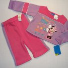 DISNEY Girl's 12 Months MINNIE MOUSE Sweat Athletic Outfit, 'Dance With Me' NEW