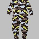 CARTER'S Boy's Size 4T Fleece Micro-Fleece DINOSAUR Pajama Sleeper, NEW