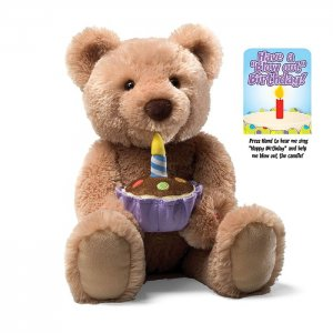 GUND PLUSH HAPPY BIRTHDAY BEAR, SINGS, MOTIONS and LIGHTS, NEW