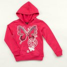 ONE STEP UP Girl's Size 4 Pink Butterfly Hoodie Jacket, NEW