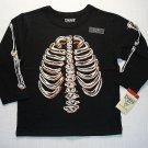 OSHKOSH Boy's Size 3T GLOW-IN-THE-DARK SKELETON Shirt, NEW