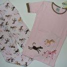 PETITE LEM Boutique Girl's Size 6 Pink Pony Pajama Pants Set