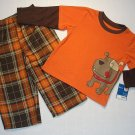 CARTER'S Boy's Size 2T Pajama Pants Set, BULLDOG, Dog, NEW
