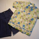 BUSTER BROWN Boy's Size 5 TROPICAL SHARK Three-Piece Shorts Set, NEW