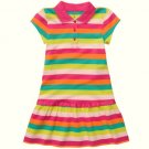 CARTER&#39;S Girl&#39;s Size 4 Striped Short-Sleeved Polo Dress, NEW