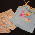 NICK JR. Girl's Size 3T THE BACKYARDIGANS Floral Shorts, Tank Top Outfit, New