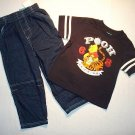 DISNEY Boy's 3T POOH And TIGGER T-Shirt and Denim Jeans Outfit, Set, NEW