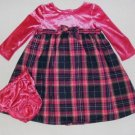 Girls 24 Months Pink Plaid Dress and Bloomer Set, NEW