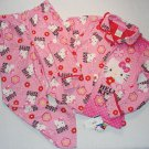 HELLO KITTY Girl's Size 10 Flannel Coat Style Pink Pajama Pants Set, NEW