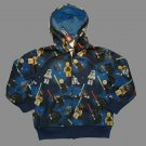 LEGO STAR WARS Boy's Size 4 Blue Hoody Zipper Hooded Jacket, NEW