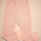 BASIC EDITIONS Girl's 6/6XThermal Pink Floral Pants NEW