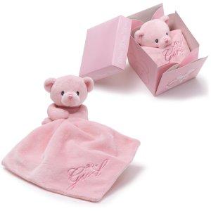 GUND IT'S A GIRL BEAR IN THE BOX Plush Blanket Gift Box, NEW