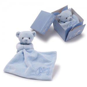 GUND IT'S A BOY BEAR IN THE BOX Plush Blanket Gift Box, NEW