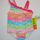 PENELOPE MACK Girl's Size 2T HEARTS Print Swimsuit, One-Piece, UPF 50+, NEW