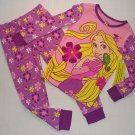 DISNEY RAPUNZEL Size 7 Purple Floral Pajama Pants Set, NEW