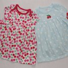 CARTER&#39;S Girl&#39;s 6 Months Pair of Red Cherry Blue Dot Dress Sets, NEW
