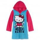 SANRIO HELLO KITTY Girl's Size 10 Hooded Fleece Nightshirt, Nightgown, NEW, NWT